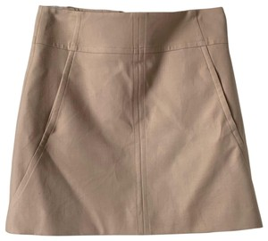 Ann Taylor Mini Skirt Sz 2 Mini Skirt Cream