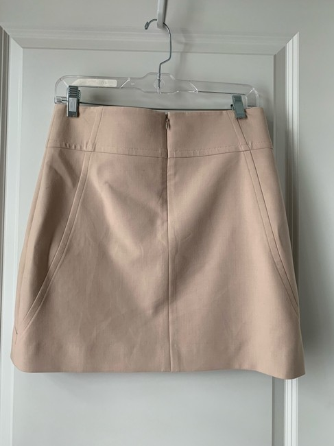 Ann Taylor Mini Skirt Sz 2 Mini Skirt Cream Image 3