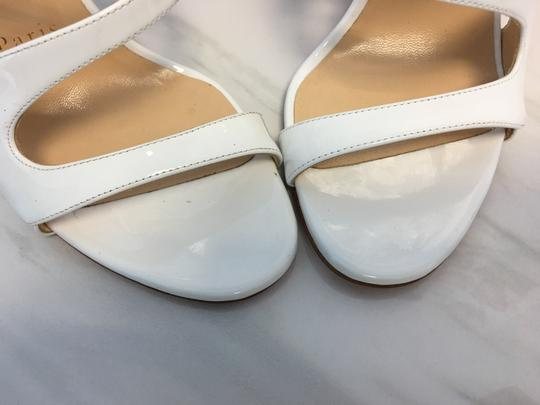 Christian Louboutin So Kate Nude Patent Patent Leather White Sandals Image 5