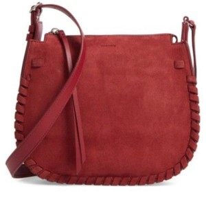 AllSaints Berry Red Messenger Bag