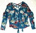 IZ Byer California Floral Bat Sleeve Knit Sweater Image 4