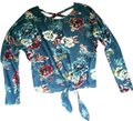 IZ Byer California Floral Bat Sleeve Knit Sweater Image 0