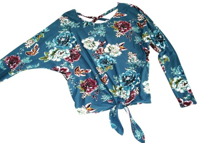 IZ Byer California Floral Bat Sleeve Knit Sweater Image 1