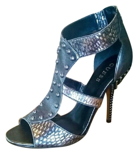 Guess Silver Metallic Sandals Image 1