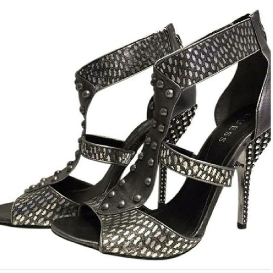 Guess Silver Metallic Sandals Image 2