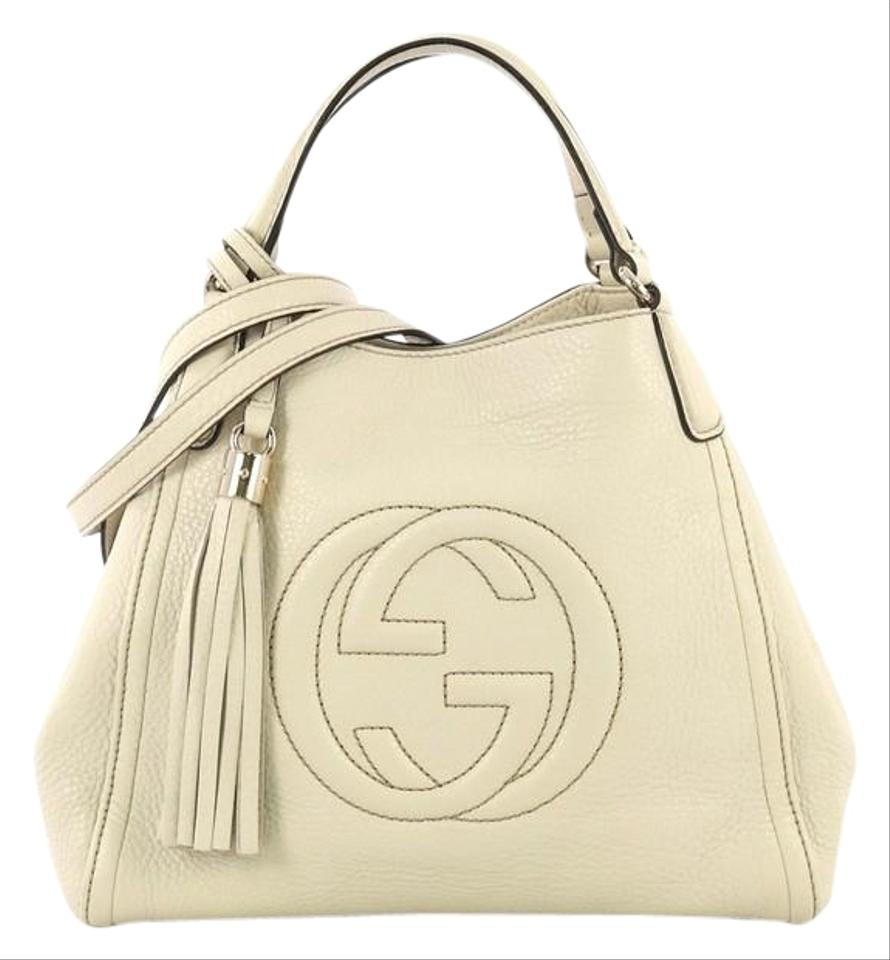 766803d5c6d Gucci Soho Shoulder Small Cream Leather Hobo Bag - Tradesy