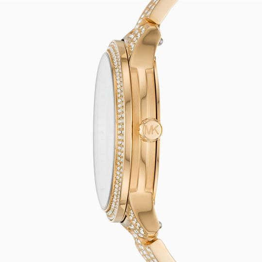 Michael Kors 100% new Gold Mk6627 Runway Multifunction Pave Dial Lady Watch Image 1