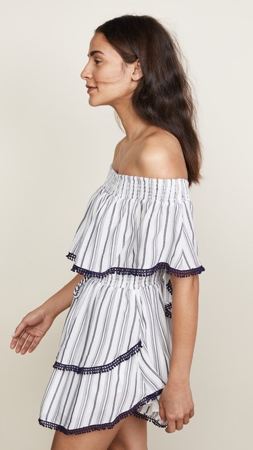 The Jetset Diaries short dress Navy Mini Tiered Ruffle Summer Striped on Tradesy Image 2