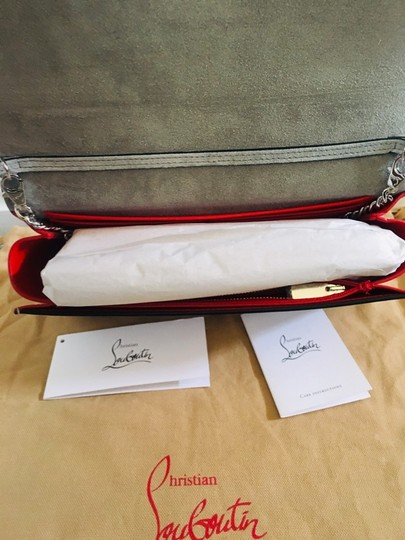 Christian Louboutin Silver/Clear Clutch Image 11