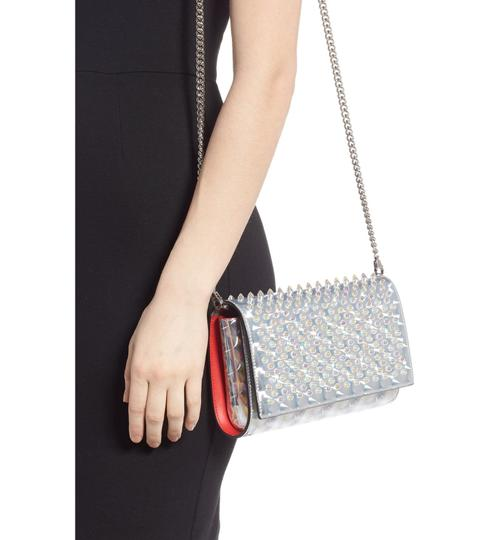 Christian Louboutin Silver/Clear Clutch Image 3
