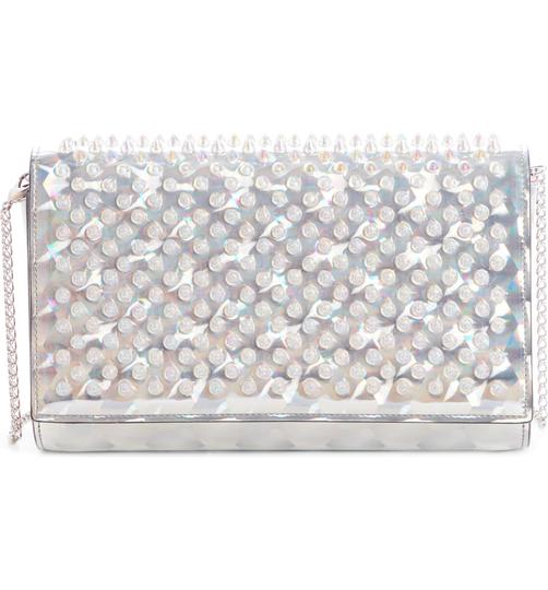 Christian Louboutin Silver/Clear Clutch Image 4