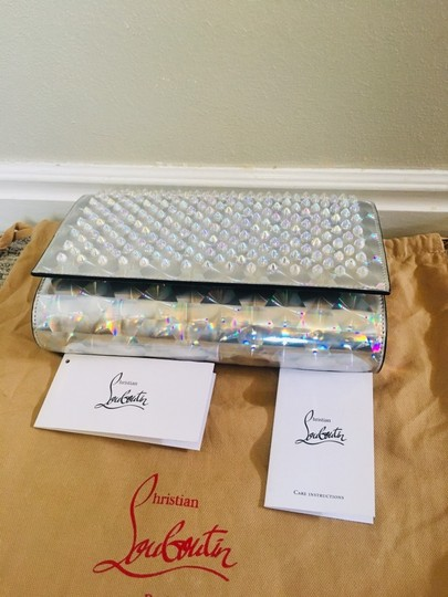 Christian Louboutin Silver/Clear Clutch Image 5
