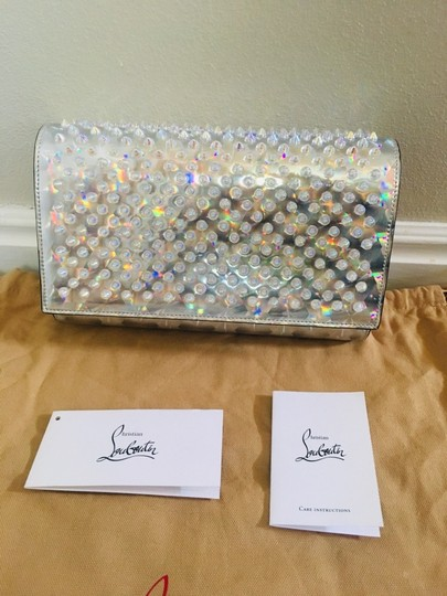 Christian Louboutin Silver/Clear Clutch Image 6