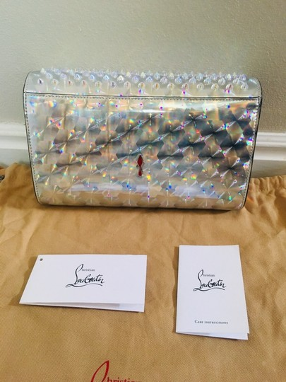 Christian Louboutin Silver/Clear Clutch Image 7