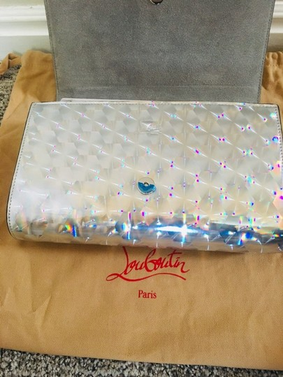 Christian Louboutin Silver/Clear Clutch Image 9
