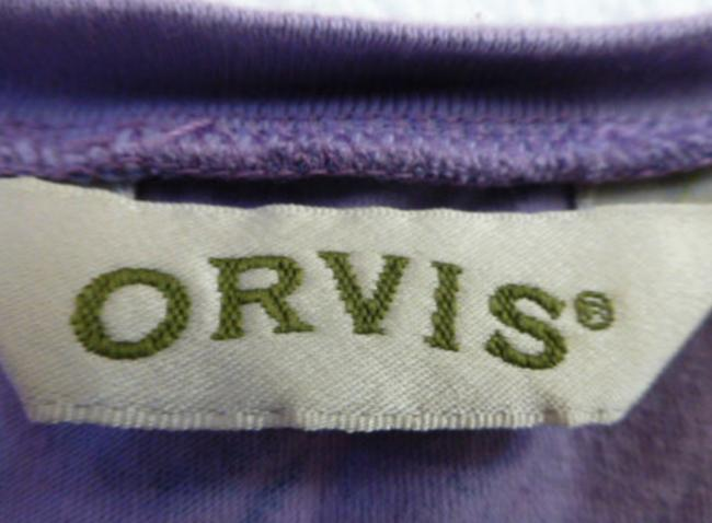 ORVIS Paisley Floral Cotton 3/4 Sleeve V-neck Sweater Image 3