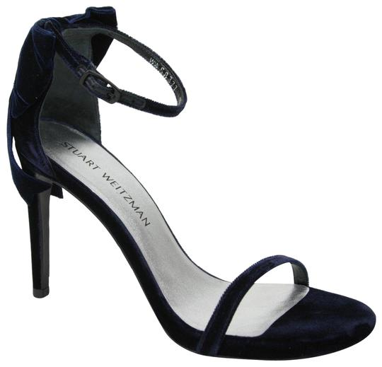 Preload https://img-static.tradesy.com/item/25500337/stuart-weitzman-navy-mybow-velvet-ankle-strap-11m-sandals-size-us-11-regular-m-b-0-1-540-540.jpg