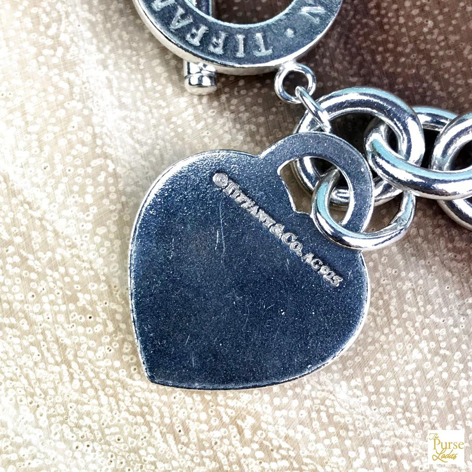 fa05ba9d8 TIFFANY & CO 925 Sterling Silver Engraved Heart Tag Toggle Necklace Image.  123456789101112