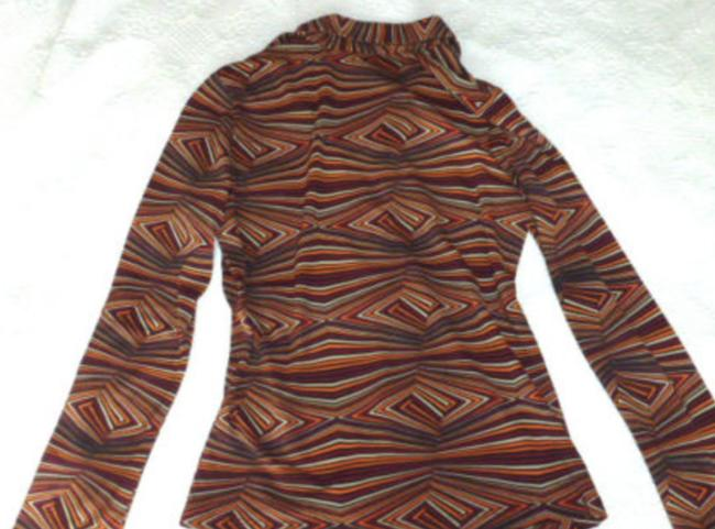 Forever 21 Retro Pullover Collar Long Sleeve Top Orange Red Image 4