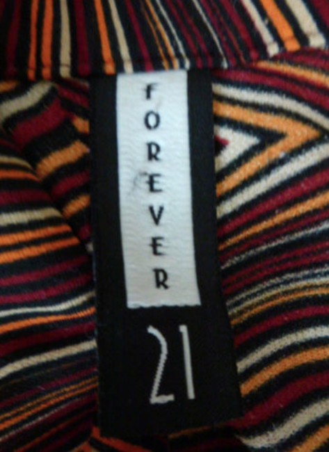Forever 21 Retro Pullover Collar Long Sleeve Top Orange Red Image 5