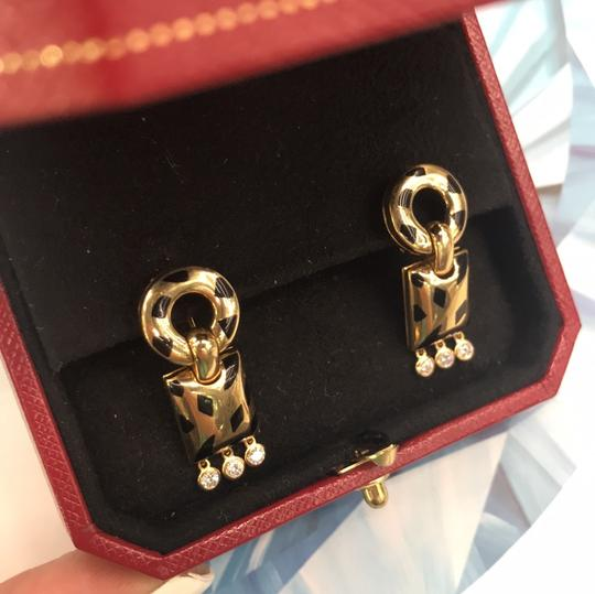 Cartier Diamond Panther Bombe Drop Clips With Omega Backs And Posts Dangle Image 1