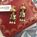 Cartier Diamond Panther Bombe Drop Clips With Omega Backs And Posts Dangle Image 2