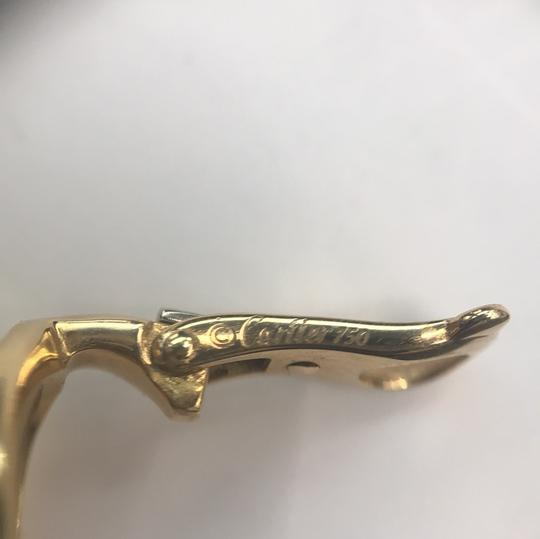 Cartier Diamond Panther Bombe Drop Clips With Omega Backs And Posts Dangle Image 5