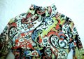 Etcetera Paisley Floral Rushed Back Zip Knit Sweater Image 1