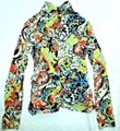 Etcetera Paisley Floral Rushed Back Zip Knit Sweater Image 3