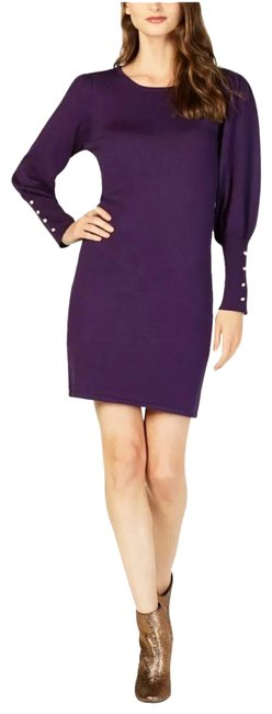 Preload https://img-static.tradesy.com/item/25500466/ny-collection-purple-bishop-sleeve-short-casual-dress-size-petite-12-l-0-1-650-650.jpg