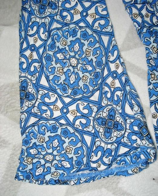 Express Paisley Medallions Bell Sleeve Empire Waist V-neck Top Blue Image 5