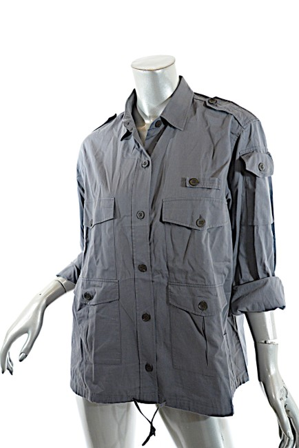 Dries van Noten Cotton Button Down Shirt Grey Image 1