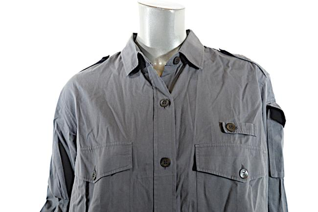 Dries van Noten Cotton Button Down Shirt Grey Image 2