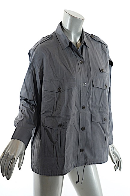 Dries van Noten Cotton Button Down Shirt Grey Image 4