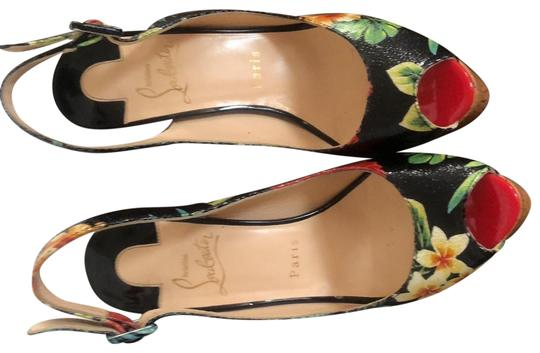 Preload https://img-static.tradesy.com/item/25500525/christian-louboutin-black-n-print-flowers-ume-plume-hawaiian-sling-wedges-size-eu-37-approx-us-7-reg-0-1-540-540.jpg