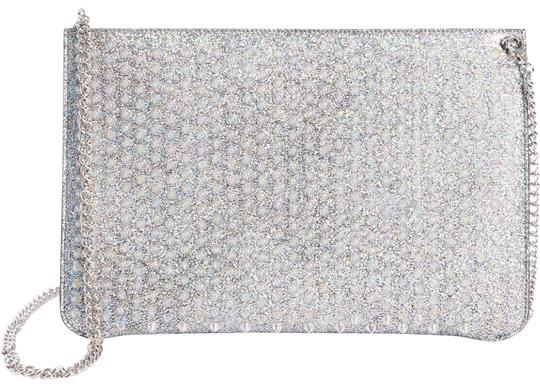 Preload https://img-static.tradesy.com/item/25500538/christian-louboutin-loubiclutch-metallic-crossbody-silver-leather-clutch-0-1-540-540.jpg