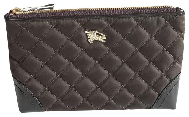 Item - Brown Quilted Nylon Cosmetic Bag