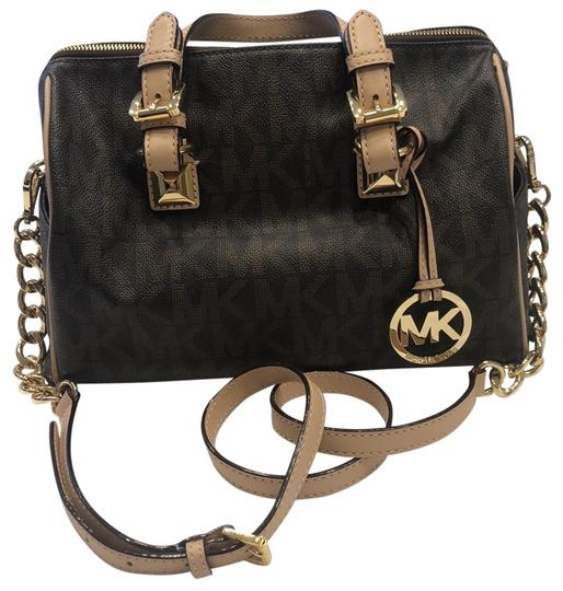Michael Kors Grayson With Strap Satchel in brown monogram Image 0