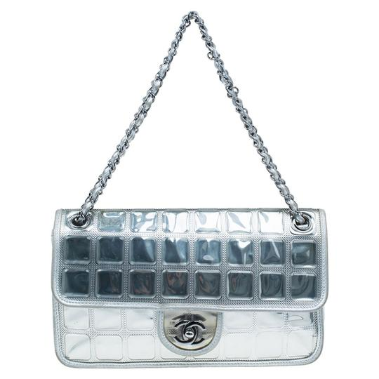 33ae9d724e Chanel Classic Flap Ice Cube Limited Edition Silver Leather Shoulder Bag