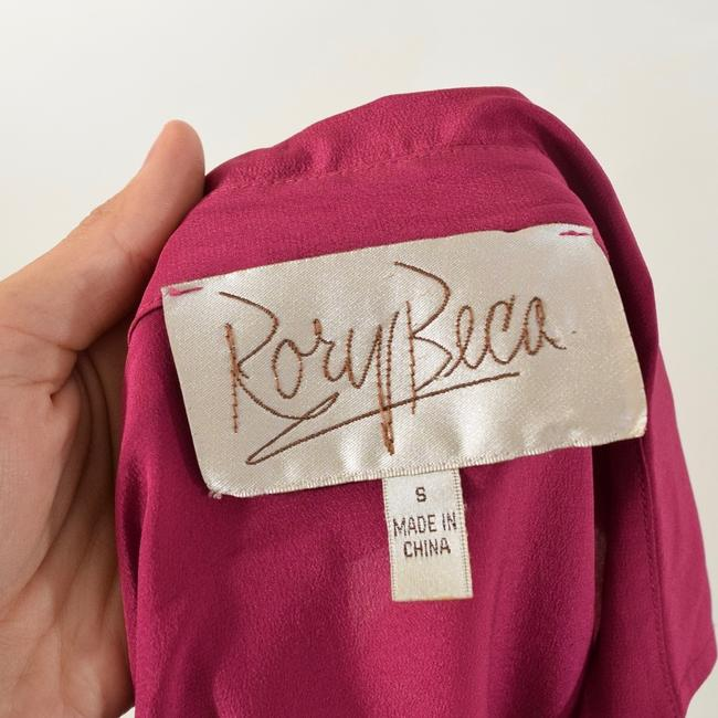 Rory Beca Drapd Collared Crepe De Chine Top Pink Image 5