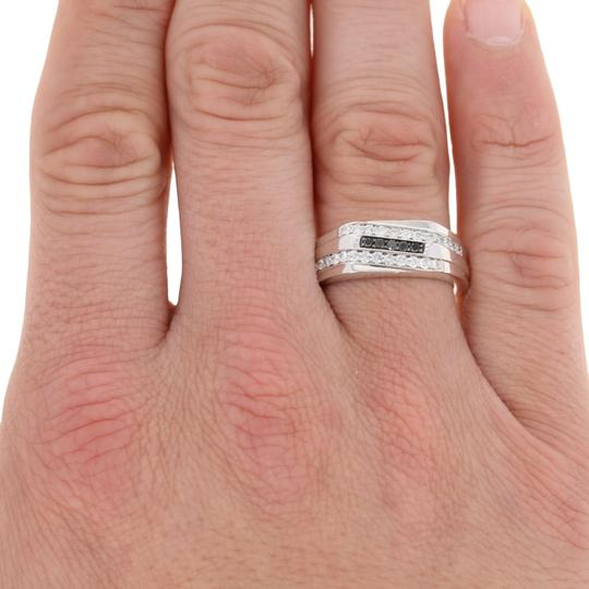 Other NEW .50ctw Round Brilliant Diamond Men's Ring - Sterling Silver E4245 Image 2