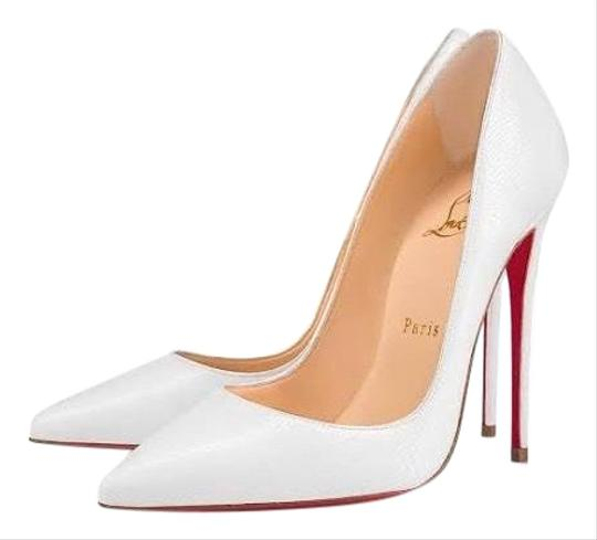 Preload https://img-static.tradesy.com/item/25500792/christian-louboutin-white-256800-pumps-size-eu-395-approx-us-95-narrow-aa-n-0-1-540-540.jpg