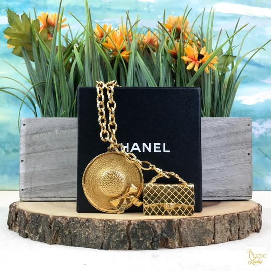 Chanel Chanel Gold Plated Hat & Handbag Charm Chain Necklace Long SALE! Image 11