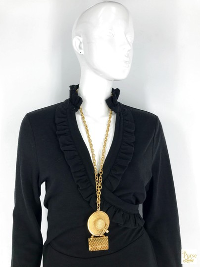 Chanel Chanel Gold Plated Hat & Handbag Charm Chain Necklace Long SALE! Image 5