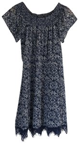 Greylin short dress Navy Off The Shoulder Wedding Sun Printed Pattern on Tradesy