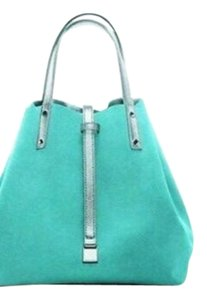 Tiffany & Co. Tote in metallic silver/Tiffany blue