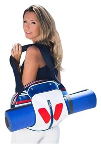 idawen Yoga Gym Sporty Vegan Tote in red white and blue