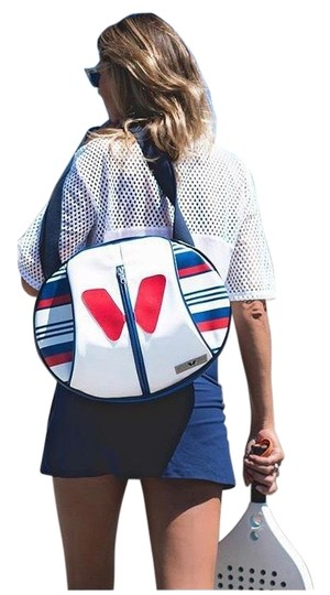 idawen Yoga Gym Sporty Vegan Tote in red white and blue Image 1