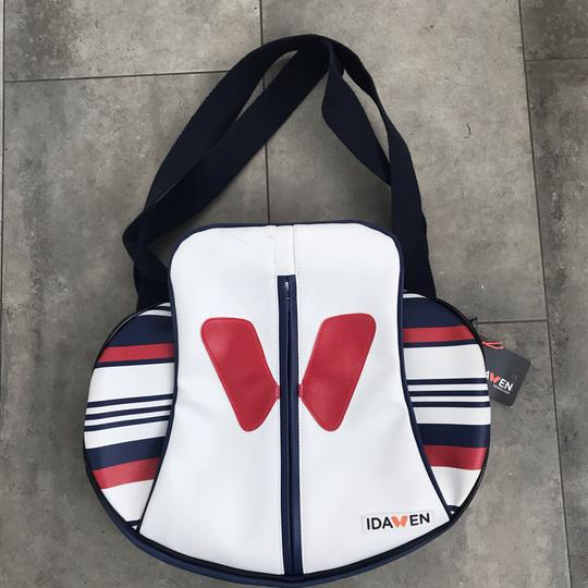 idawen Yoga Gym Sporty Vegan Tote in red white and blue Image 5
