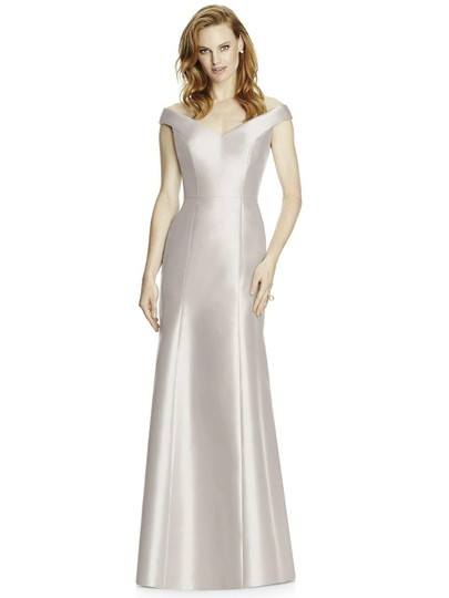 Dessy Oyster Sateen Twill 4519 Formal Bridesmaid/Mob Dress Size 2 (XS) Image 2